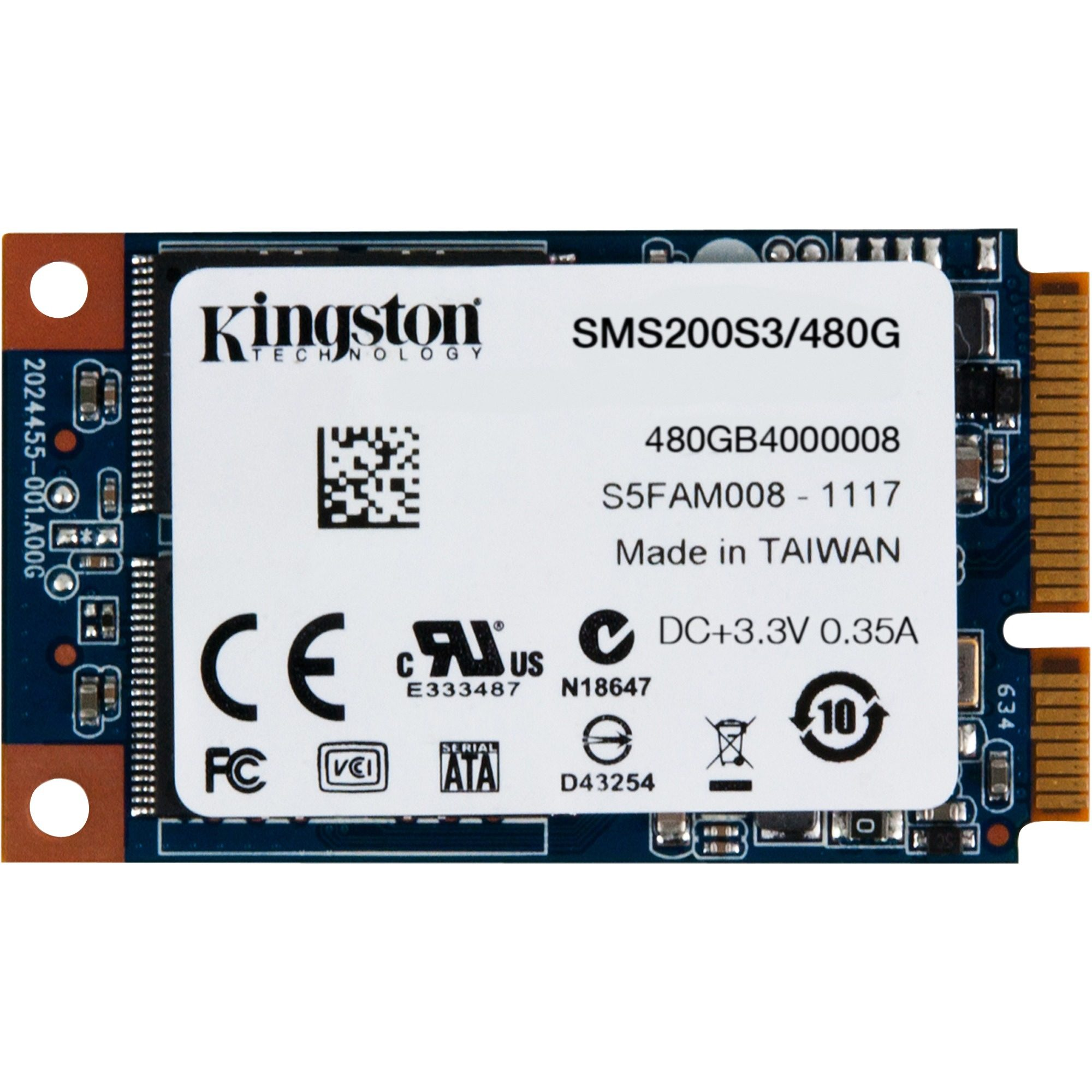 Kingston Solid State Drive »SSDNow mS200 SSD 480 GB«